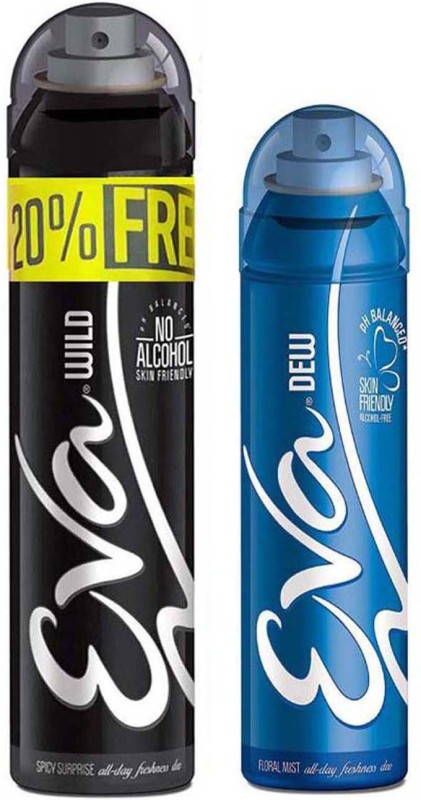 EVA Deodorant Spray, Deodorant Spray - For Women(250 ml, Pack of 2)