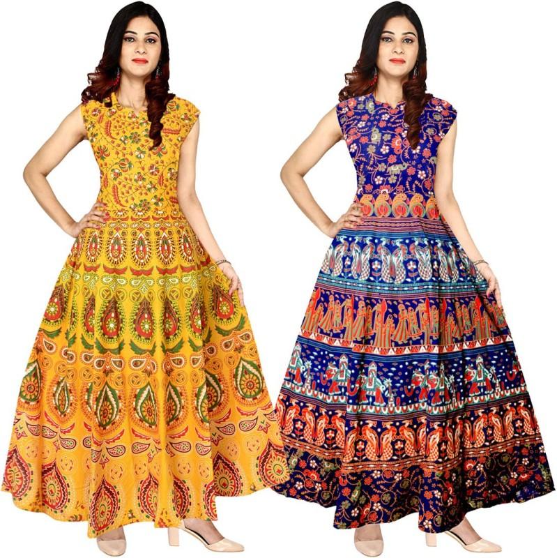 JWF Women's Maxi Multicolor Dress