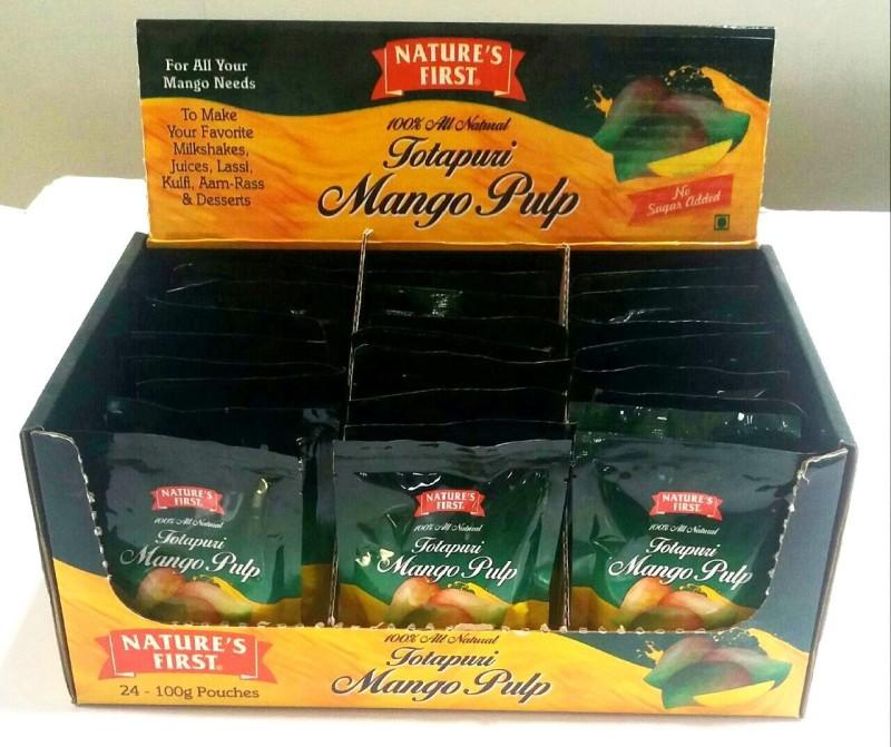 NATURE'S FIRST Totapuri Mango Pulp, 100 Grams Peeled 100 g(24)
