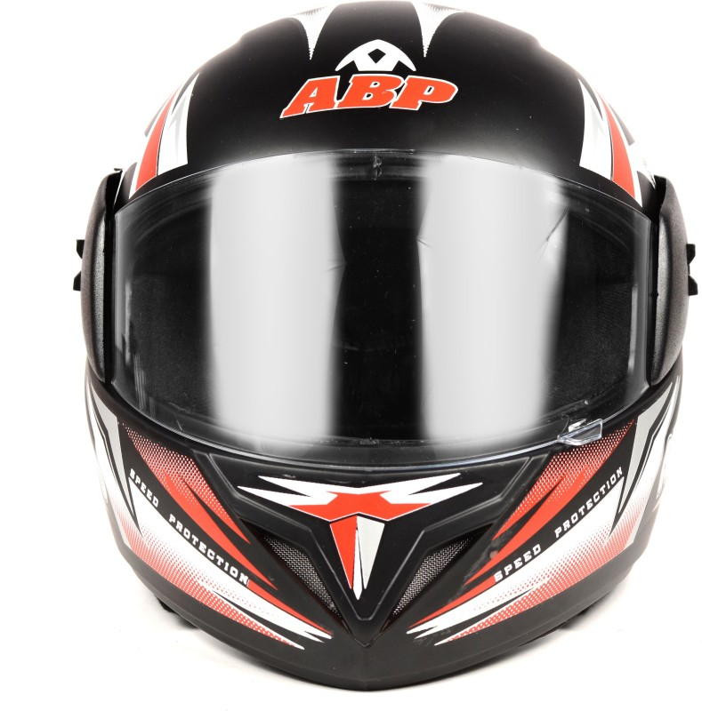 ABP Nitro Racing Black with Red Stripes (matte) ISI MARK MOTORBIKE HELMET Motorbike Helmet(Black, Red)