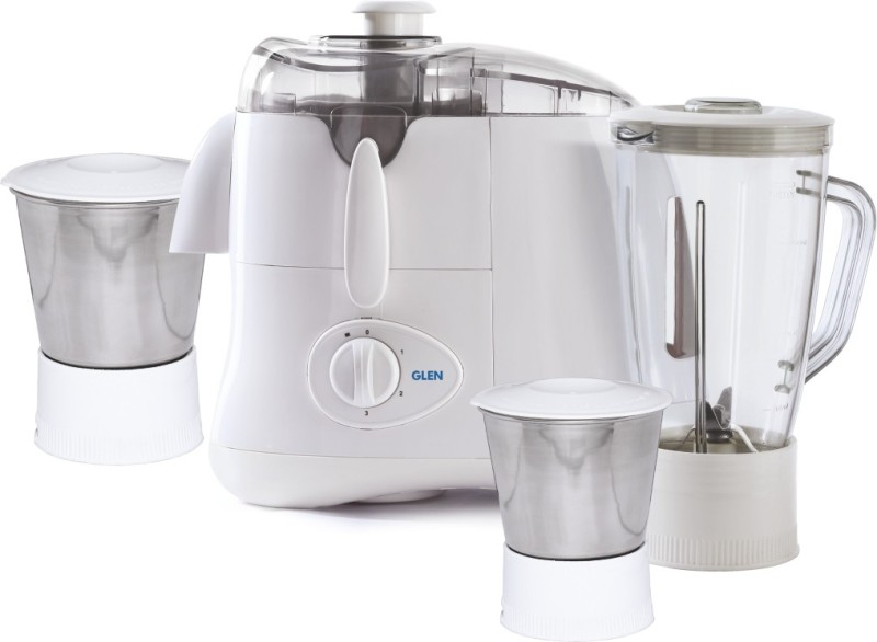 GLEN GL 4015 Jar 3 4015JAR3 500 W Juicer Mixer Grinder(White, 3 Jars)