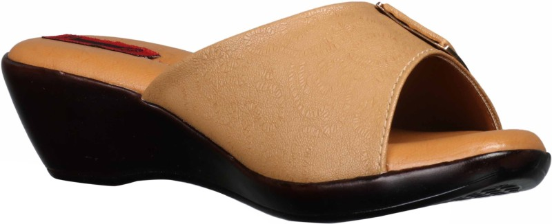 1 WALK Women Tan Wedges