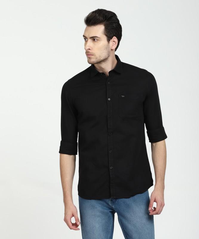 LAWMAN PG3 Men's Solid Casual Black Shirt