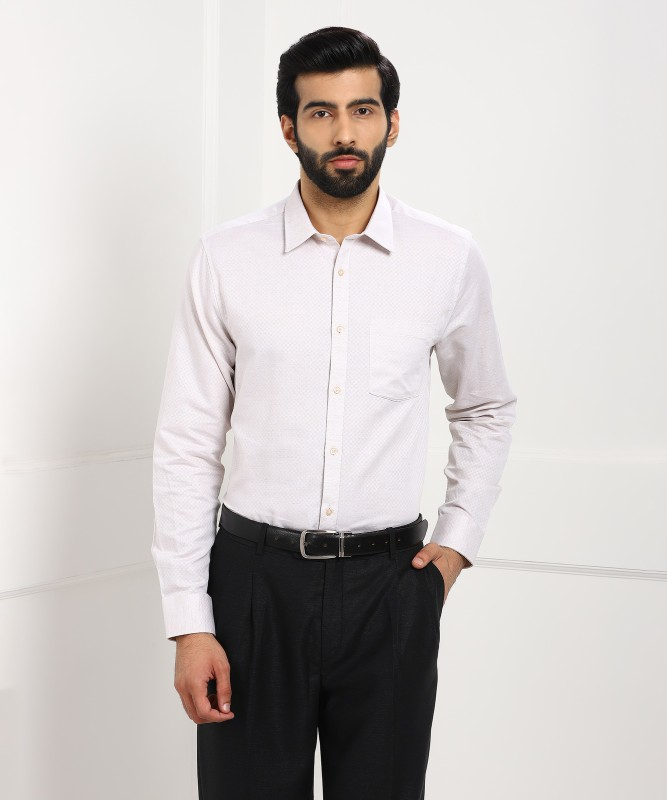 Blackberrys Mens Checkered Formal Beige Shirt