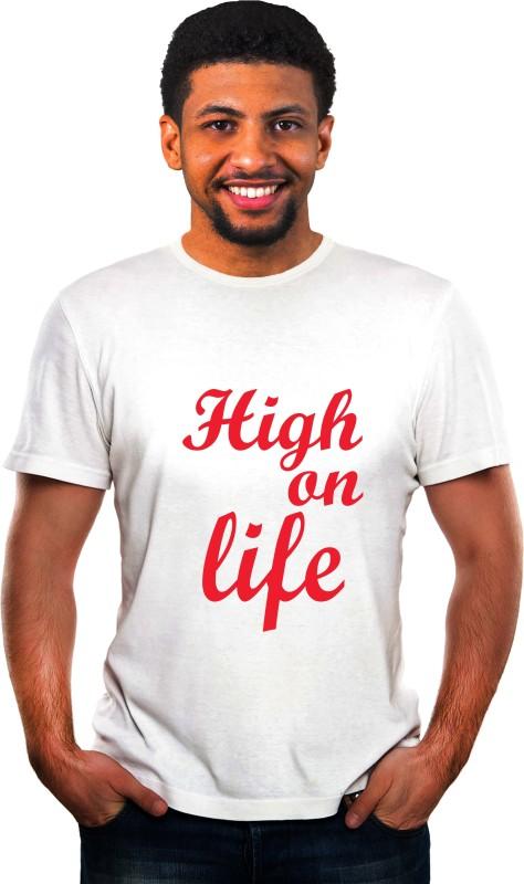 Ritzees Printed Men Round Neck White T-Shirt