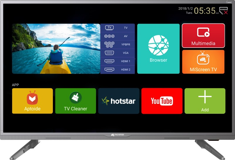 Micromax Canvas 102cm (40 inch) Full HD LED Smart TV 2018 Edition(40 Canvas 3)