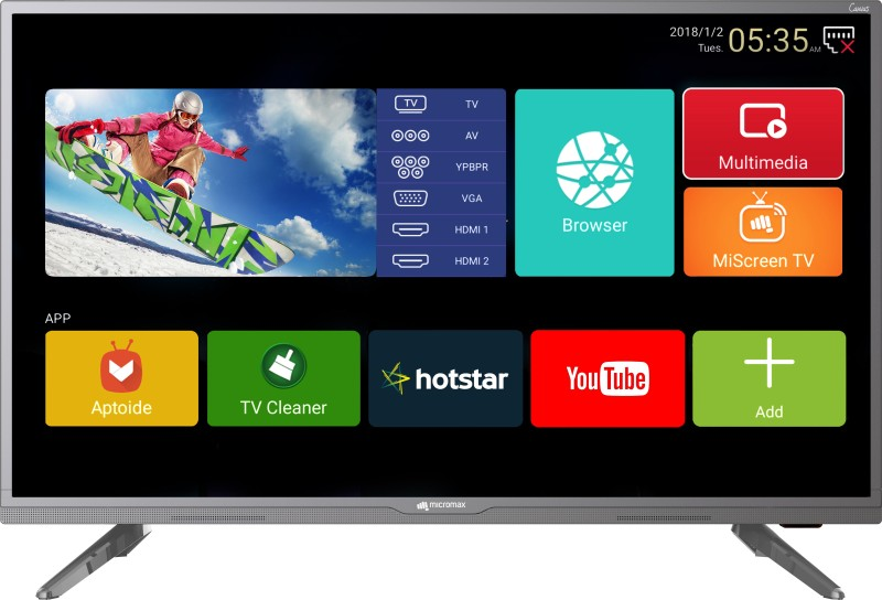 Micromax Canvas 81cm (32 inch) HD Ready LED Smart TV 2018 Edition(32 Canvas 3)