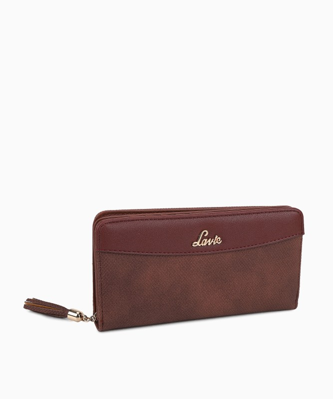 Lavie Women Brown Artificial Leather Wallet(10 Card Slots)