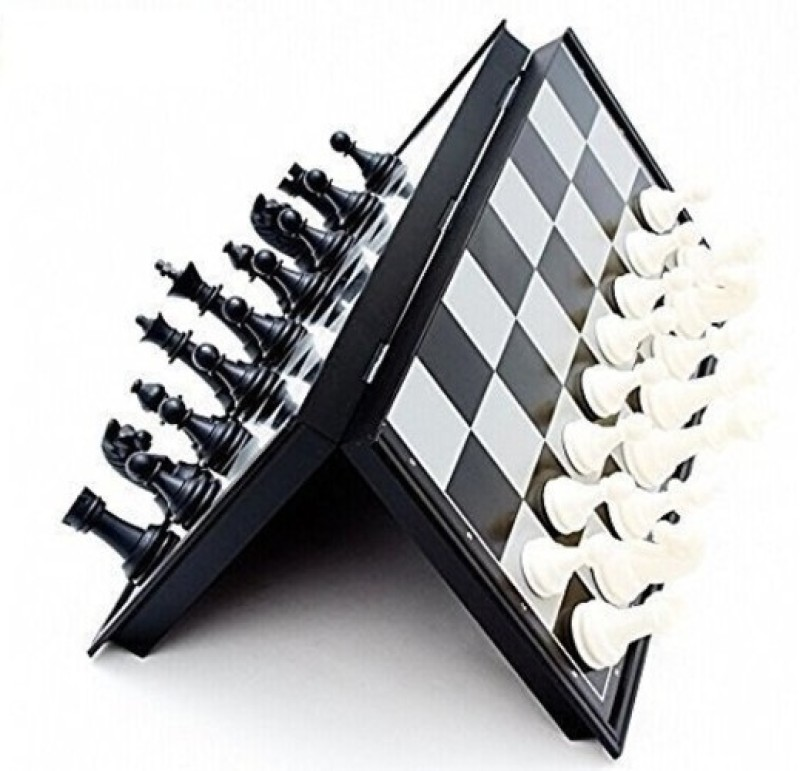 spincart Mini Magnetic Travel Chess Board Set with Folding Board For Adult And Kids 10 inch Chess Board(Black, White)