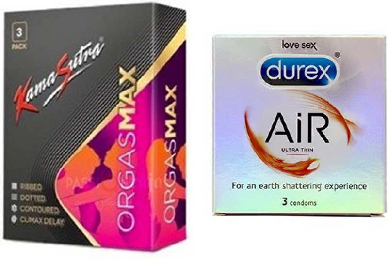 Durex Combo (3s x 2 Pack = 6 Condoms) Condom(Set of 2, 6S)