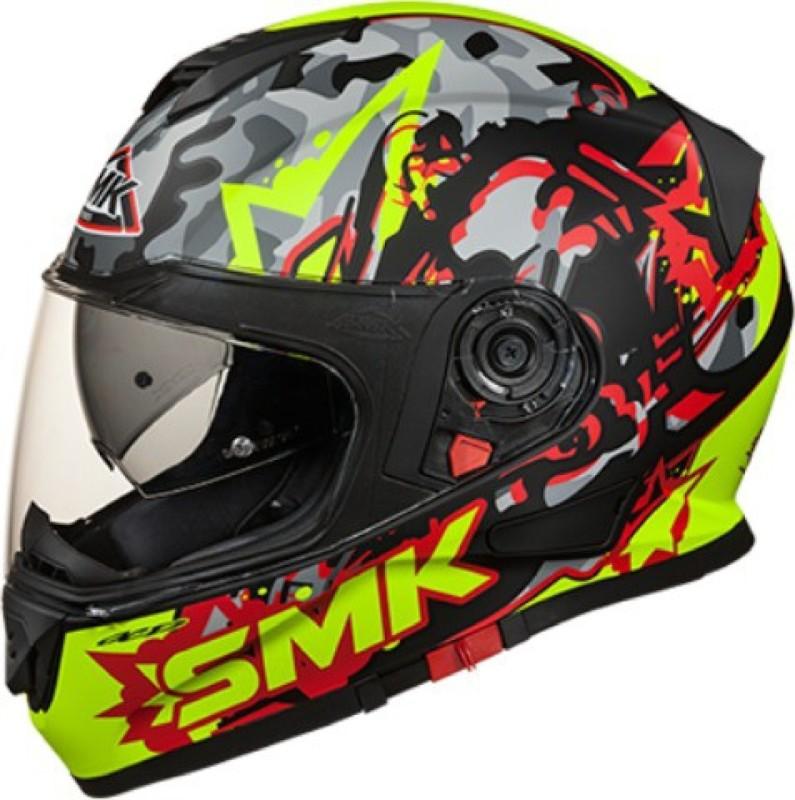 Studds Twister Attack Motorbike Helmet(Fluo, Black, Matt, Red)