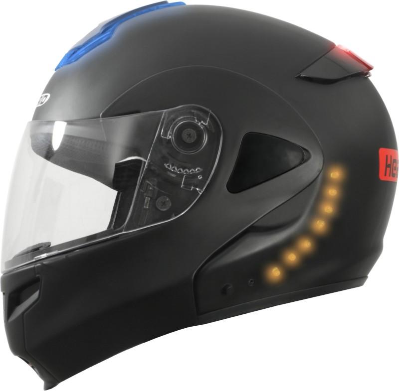 headfox Turn Signal Indicator Light Motorbike Helmet(Black)