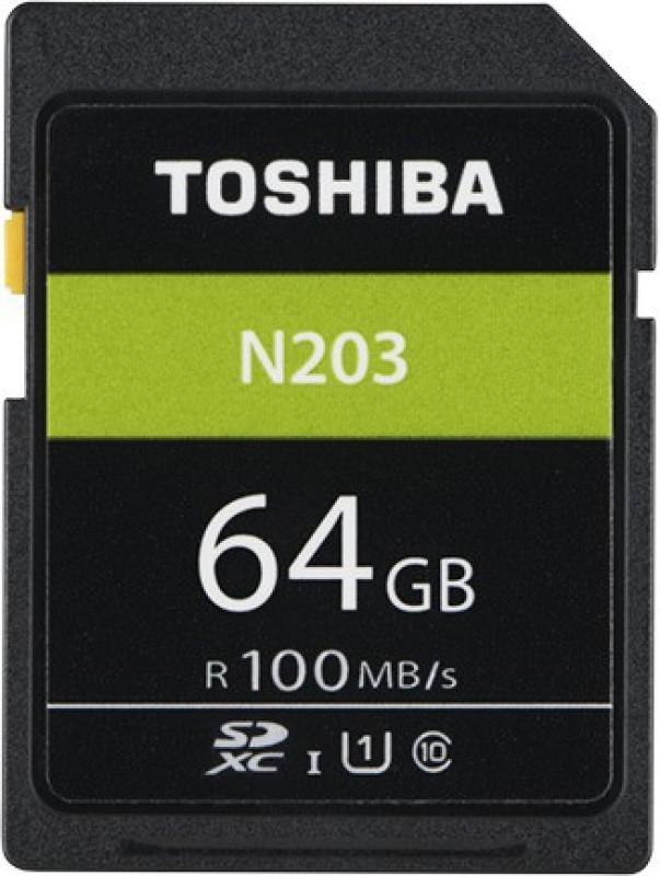 Toshiba N203 64 GB SDHC Class 10 100 MB/s Memory Card