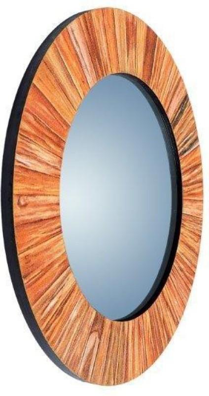 PANASH ART MIR-SD-BF-01 Decorative Mirror(Round Finish : Sand Work)