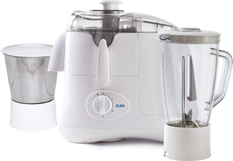 GLEN GL 4015 Jar 2 4015JAR2 500 W Juicer Mixer Grinder(White, 2 Jars)