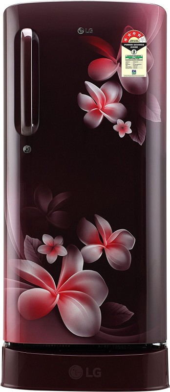 LG 190 L Direct Cool Single Door 4 Star Refrigerator(Scarlet Plumeria, GL-D201ASPX)