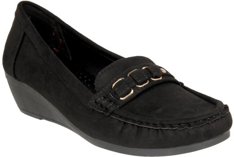Flat n Heels Loafers For Women(Black)