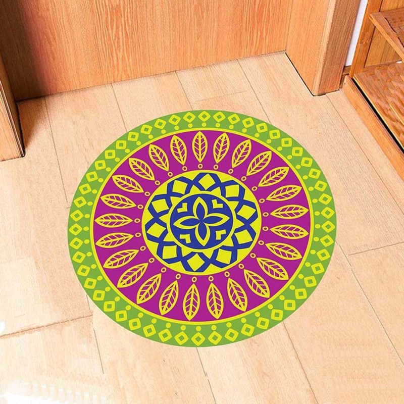100yellow Large Diwali Floor Sticker Rangoli Sticker(Pack of 1)