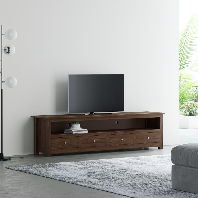Flipkart Perfect Homes PureWood Sheesham TV Entertainment Unit(Finish Color - Dark Walnut)