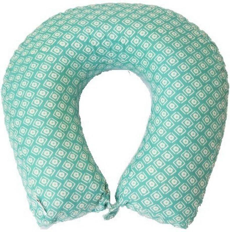 Kanyoga Memory Foam Filling Printed Relaxing Travel Neck Pillow (29cm x 11cm x 9cm) Yoga Blocks(Multicolor Pack of 1)