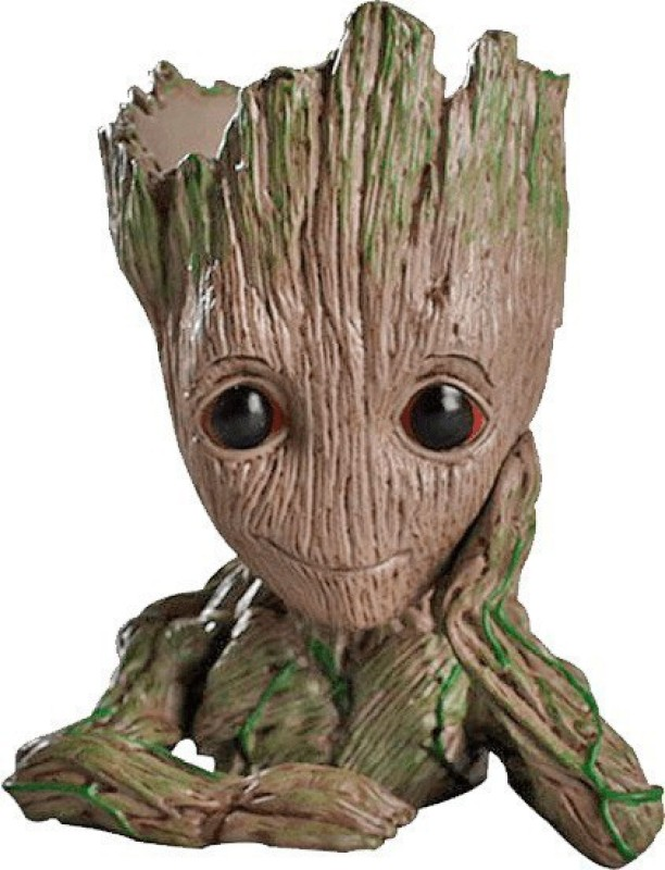 unique shape Groot flower pot and pen holder(Multicolor)