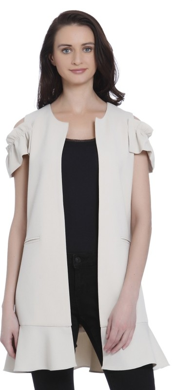 Vero Moda Solid Single Breasted Casual Womens Blazer(Beige)