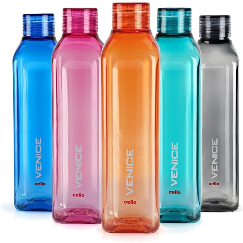 Cello VENICE 1000 ml Bottle(Pack of 5, Multicolor)
