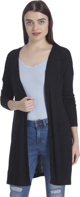 Vero Moda Womens No Closure Solid Cardigan