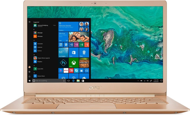 Acer Swift 5 Core i7 8th Gen - (8 GB/512 GB SSD/Windows 10 Home) SF514-52T Thin and Light Laptop(14 inch, Honey Gold, 0.97 kg, With MS Office)