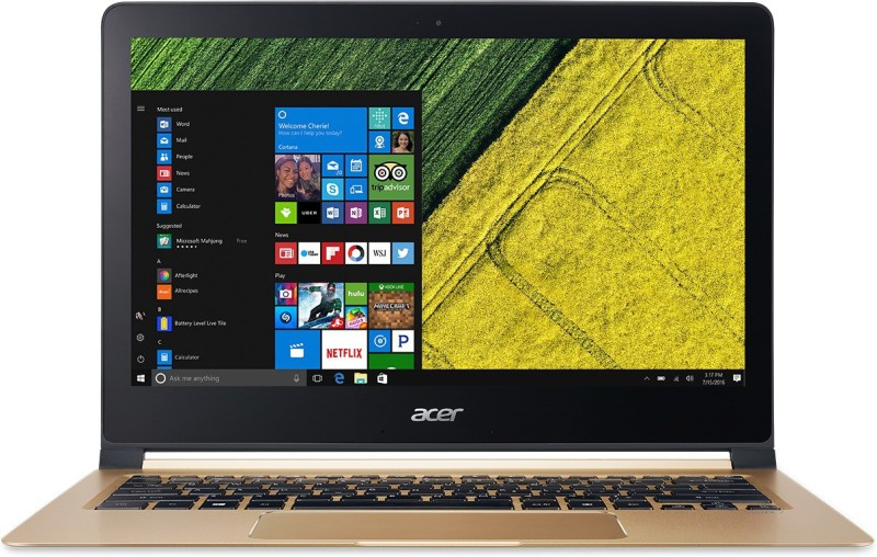 Acer Swift 7 Core i5 7th Gen - (8 GB/256 GB SSD/Windows 10 Home) SF713-51 Thin and Light Laptop(13.3 inch, Black, 1.125 kg, With MS Office)