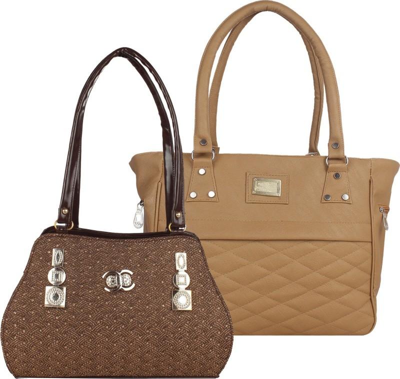 Fillincart Women Brown, Beige Hand-held Bag