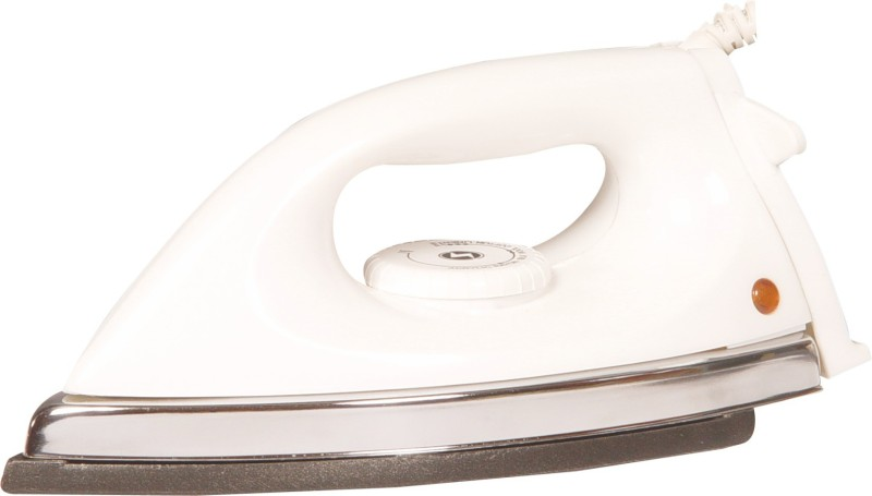 HAPPY HOME Light weight VERNA dry iron II 600W II Automatic II ISI Approved II Performance guaranteed II Schock resistant Dry Iron(White)