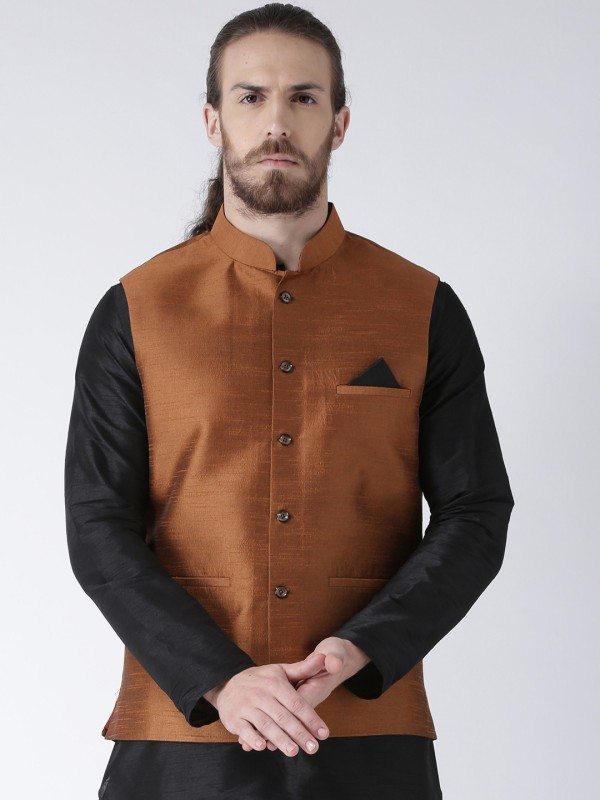 Deyann Sleeveless Colorblock Men Jacket