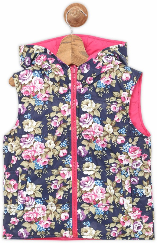 612 League Sleeveless Floral Print Girls Jacket