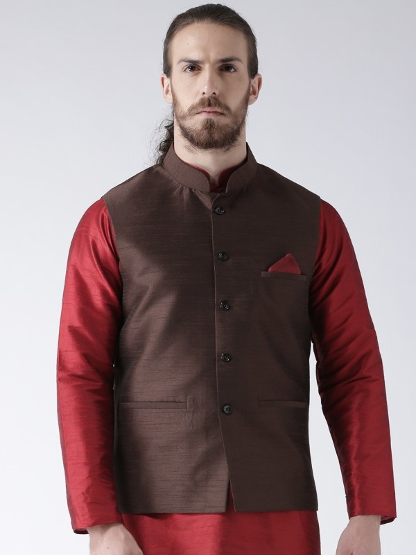Deyann Sleeveless Solid Men Jacket