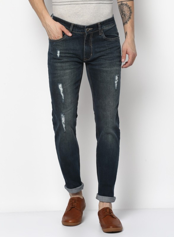 Monte Carlo Slim Men Blue Jeans