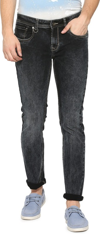 Peter England Skinny Men Black Jeans