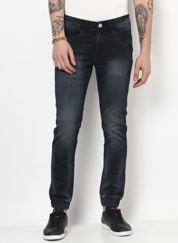 Monte Carlo Slim Men Black Jeans