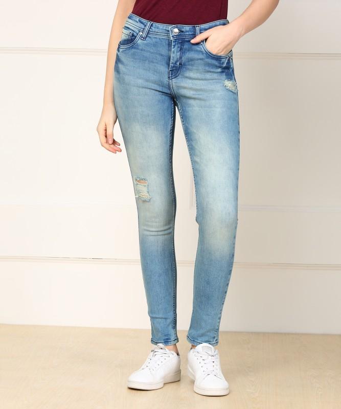 Allen Solly Slim Women Blue Jeans