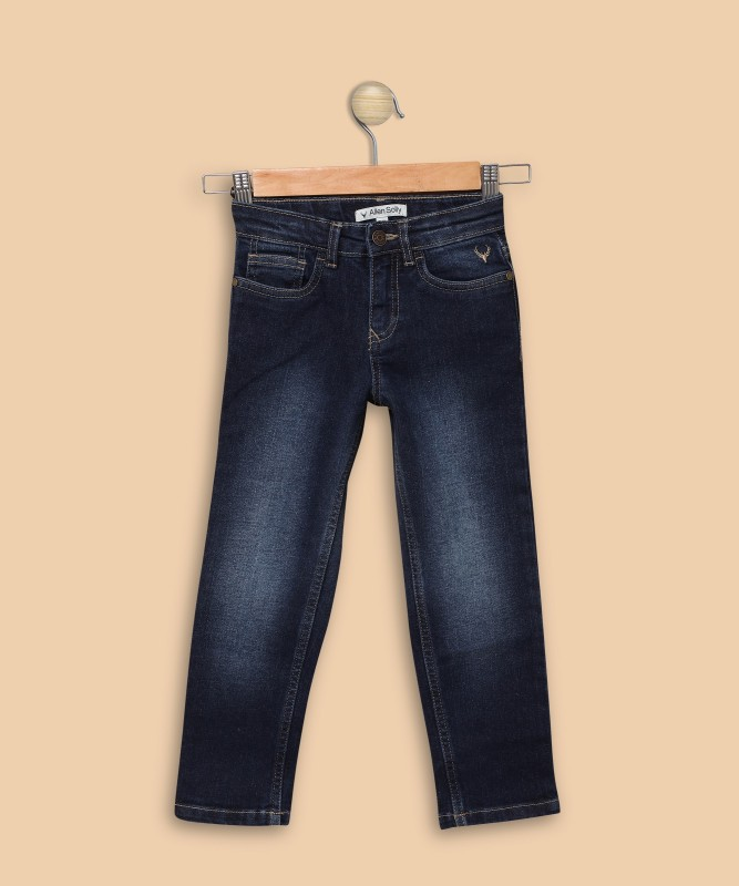Allen Solly Regular Men Dark Blue Jeans