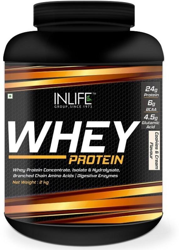 Inlife Whey Protein Powder (Cookies & Cream - 2kg) Whey Protein(2 kg, Cookies and Cream)
