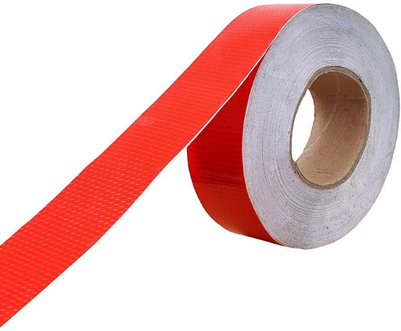 YRSTRADINGCORP Red Car Reflective Material Tape 2 mm x 50 m red Reflective Tape(Pack of 1)