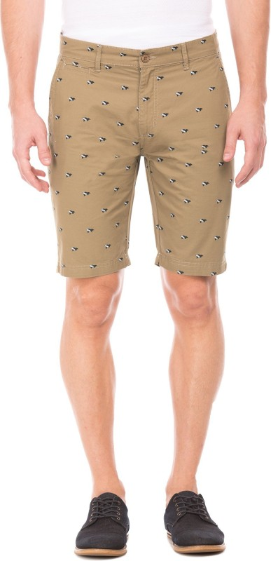 Izod Printed Men Beige Chino Shorts