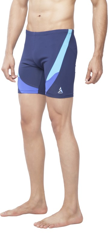Attiva Colorblock Men Dark Blue Swim Shorts