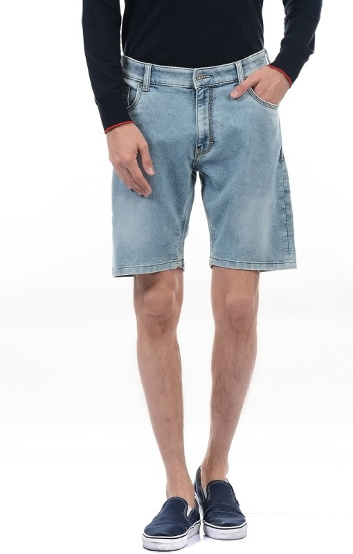 Izod Solid Men Blue Basic Shorts