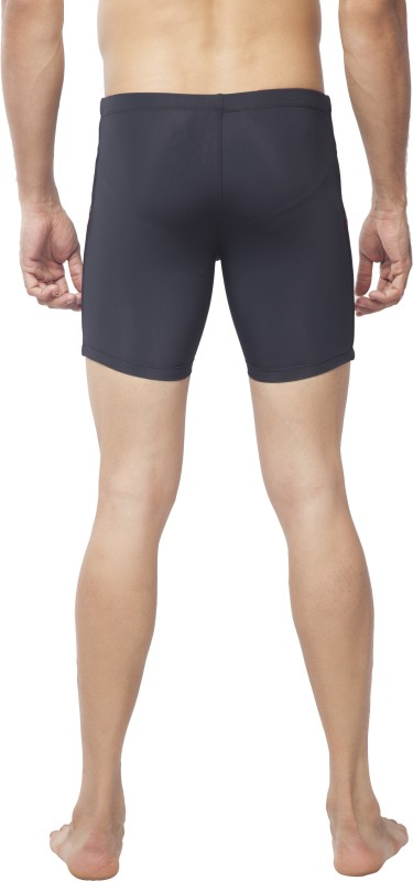 Attiva Colorblock Men Black Swim Shorts