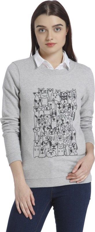 Vero Moda Full Sleeve Printed Women Sweatshirt