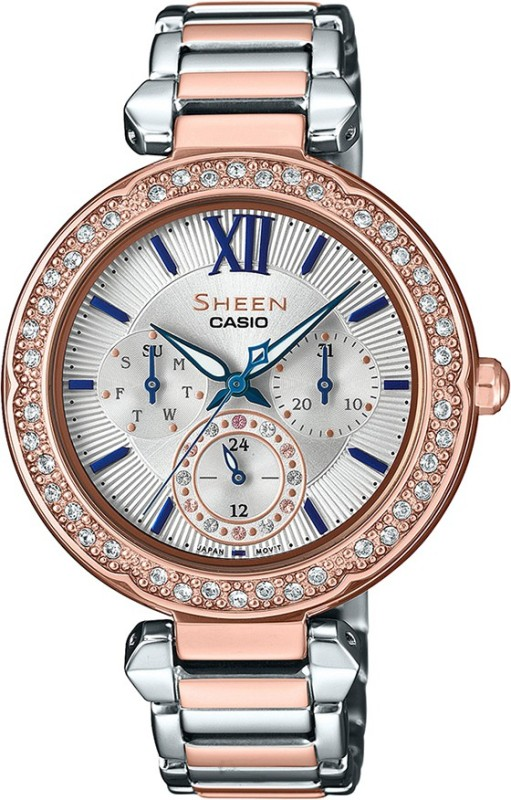 Casio SX228 Sheen Analog Watch - For Women