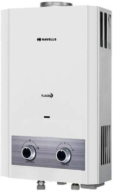 Havells 6 L Gas Water Geyser(White, 1.2 kg 6L Flagro Geyser)