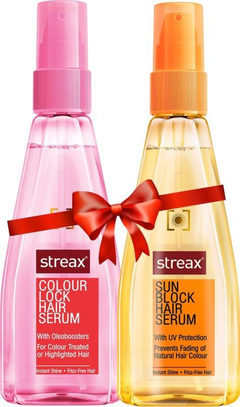 Streax Lock Hair And Sun Block Hair Serum Combo Pack 100 ml Each(200 ml)